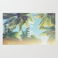 aloha Area & Throw Rugs featuring Aloha by Pink Berry Patterns