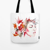 oriental Tote Bags featuring oriental by Lua Fraga