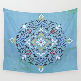 Calligraphy Flower Wall Tapestry