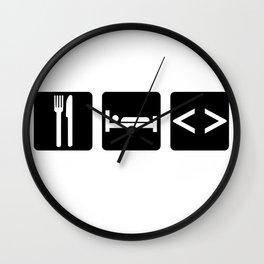 Eat, Sleep, Code Wall Clock