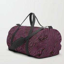 Royal Maroon Silk Moire Pattern Duffle Bag