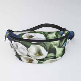 White Tulips Fanny Pack