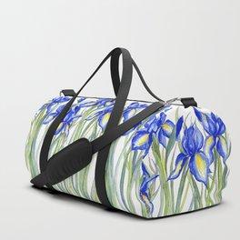 Blue Iris, Illustration Duffle Bag
