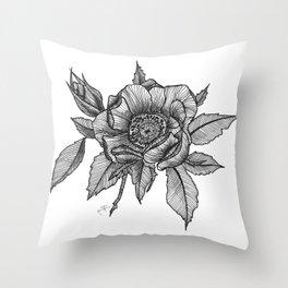 Sweet briar rose Throw Pillow