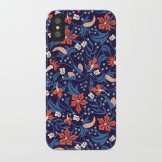 Moonlit Jungle Floral iPhone X Slim Case