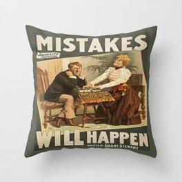 Vintage Melodrama Poster Throw Pillow