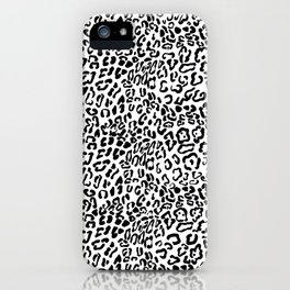 Modern Hipster Girly Black Leopard Animal Print iPhone Case