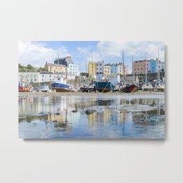 Tenby Harbour Metal Print