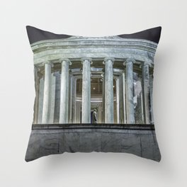 Jefferson Memorial - Side View Throw Pillow