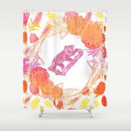 Australian Native Floral Print with Koala Shower Curtain