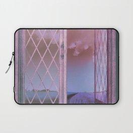 Lavender Fields in Window Shabby Chic original art Laptop Sleeve