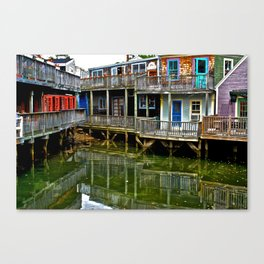 Color on the Back Bay Canvas Print