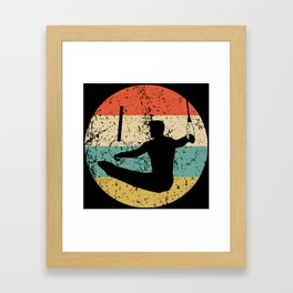 Gymnastics Vintage Retro Gymnast Framed Art Print