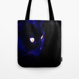 Black Cat Photograph, Halloween Eyes Tote Bag