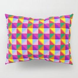 Eight Triangles Pixel Pillow Sham