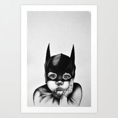 Waiting For a Hero (Bat Boy) Art Print