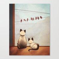 friendship Canvas Prints featuring Friendship by Naomi VanDoren