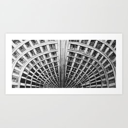 Ponte Tower Brutalist Architecture Illustration Art Print