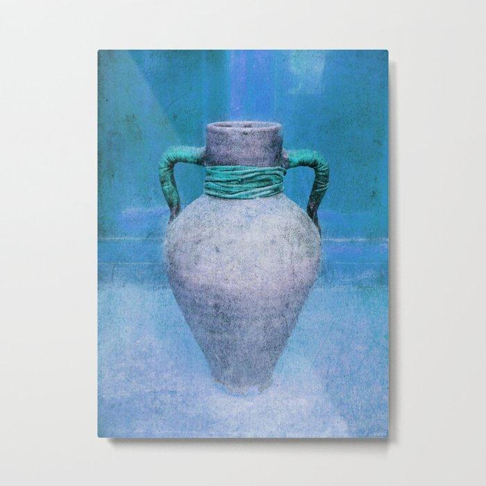 Mediterranean pitcher in blue Metal Print