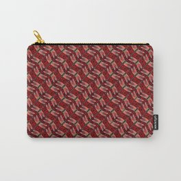 Dragonfly in Red Carry-All Pouch