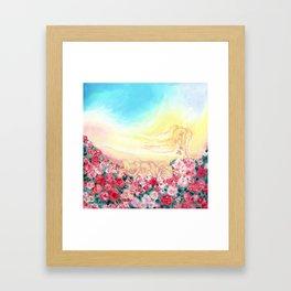 Angels and roses Framed Art Print