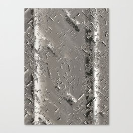 Silver Steel Abstract Metal Background Canvas Print