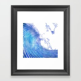 Pacific Waves III Framed Art Print