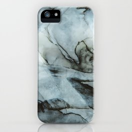 Dark Blue Abstract Painting iPhone Case