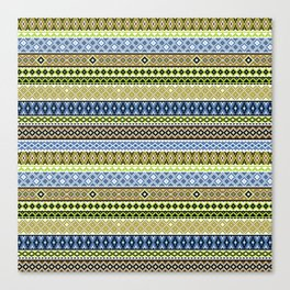 Knitted Series - Lavender / Lime Canvas Print