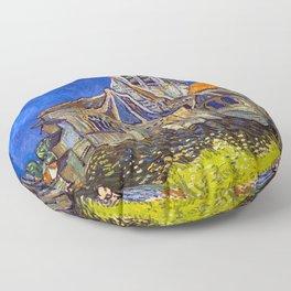 Vincent Van Gogh - The Church at Auvers Floor Pillow