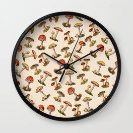 Magical Mushrooms Wall Clock