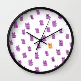 Gummy Bears Grape Flavor Wall Clock