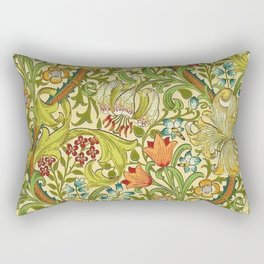 William Morris Calla Lilies, Tulips, Daffodils, & Red Poppies Textile Print Rectangular Pillow