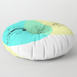 Keytar Platypus Venn Diagram Floor Pillow