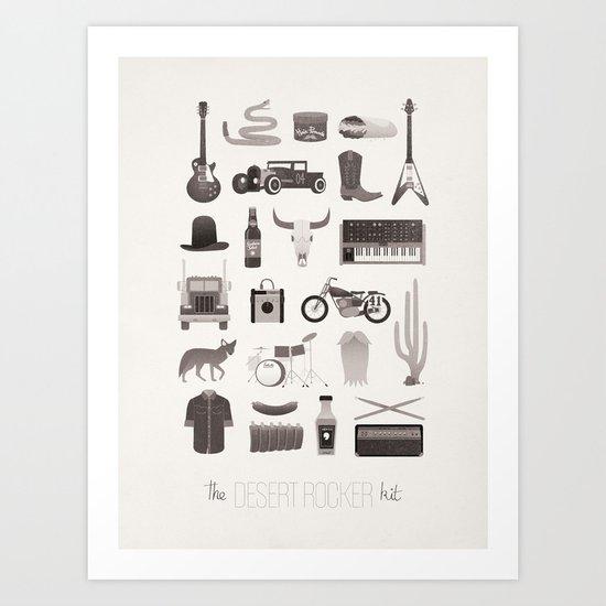 The Desert Rocker Kit Art Print
