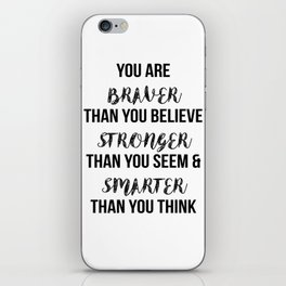 You Are More Than You Think iPhone Skin