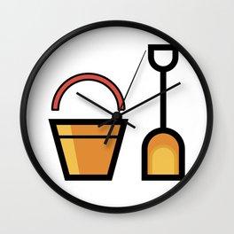 Sand Shovel And Bucket Cute Gift Idea Wall Clock
