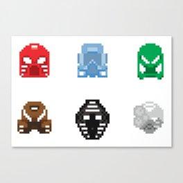 Pixel Bionicle: Toa Mata Kanohi Canvas Print