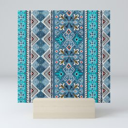 Grand Bazaar - Blue Mini Art Print