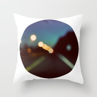 drive Throw Pillows featuring Drive by elle moss