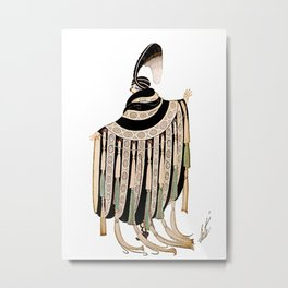 """Gaby Deslys Costume"" Art Deco Fashion by Erté Metal Print"