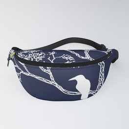 Crow in a tree Fanny Pack