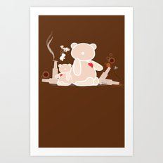 A Night with Ted Art Print