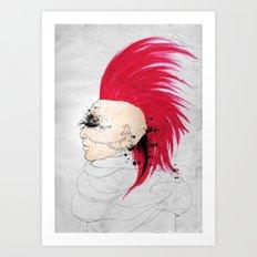 Fierce Angel Art Print