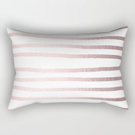 Simply Drawn Stripes Rose Gold Palace Rectangular Pillow