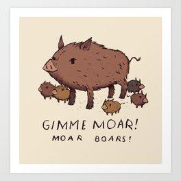 moar boars Art Print