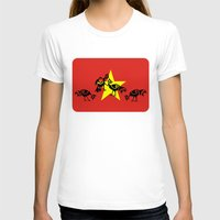 vietnam T-shirts featuring Vietnam Flag, Roosters Sparring by mailboxdisco