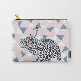 Cute Rabbit Leopard Pattern Design Carry-All Pouch
