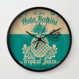 Hala Kahiki Juice Stand wooden board. Wall Clock