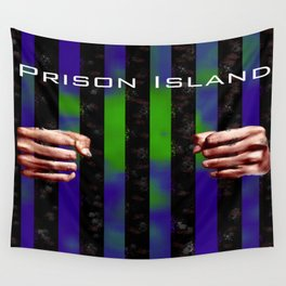 Prison Island Drawn Wall Tapestry